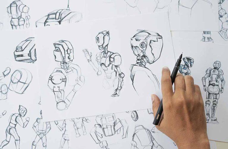 Animator designer Development designing drawing sketching develo